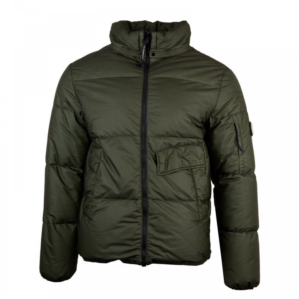 C.P. Company Mens Bi-Mesh Down Quilted Jacket (Sage) - Mens from ... 8d4399224