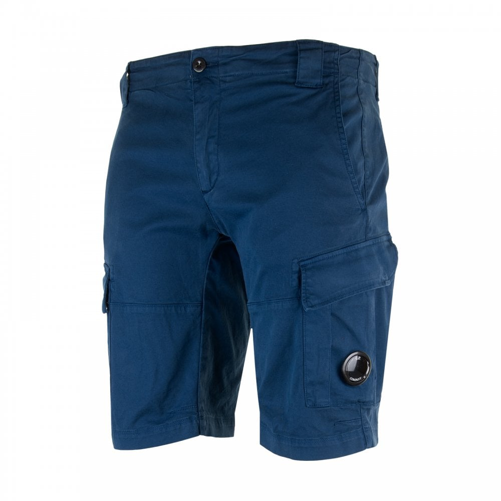 13b307a6a6 C.P. Company Mens Cargo Shorts (Blue) - Mens from Loofes UK