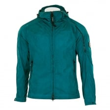 C.P. Company Mens Chrome Garment Dyed Coat (Turquoise)