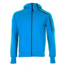 C.P. Company Mens Full Zip Goggle Hooded Sweatshirt (Turquoise)