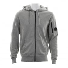 C.P. Company Mens Full Zip Hooded Sweatshirt (Grey)