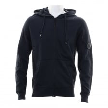 C.P. Company Mens Full Zip Hooded Sweatshirt (Navy)