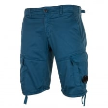 C.P. Company Mens Garment Dyed Cargo Shorts (Blue)