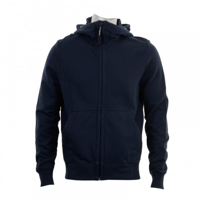 C.P. Company Mens Goggle Hooded Zip Sweat Top (Navy)