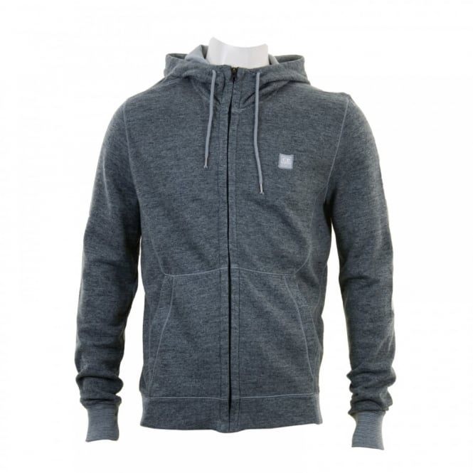C.P. Company Mens Hooded Logo Sweat Top (Grey)