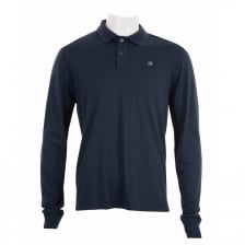 C.P. Company Mens Long Sleeve Polo Shirt (Navy)