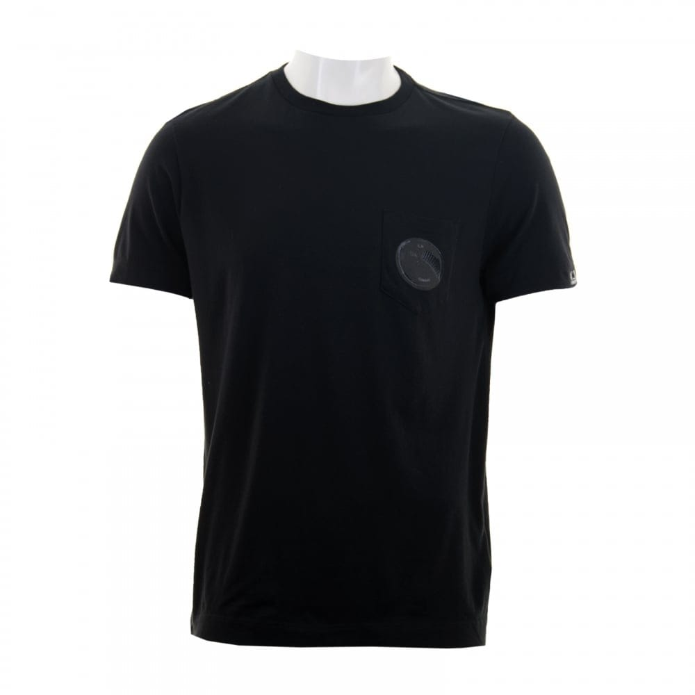 C P Company C P Company Mens Pocket Logo T Shirt Black