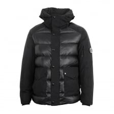 C.P. Company Mens Quilted Bomber Jacket (Black)