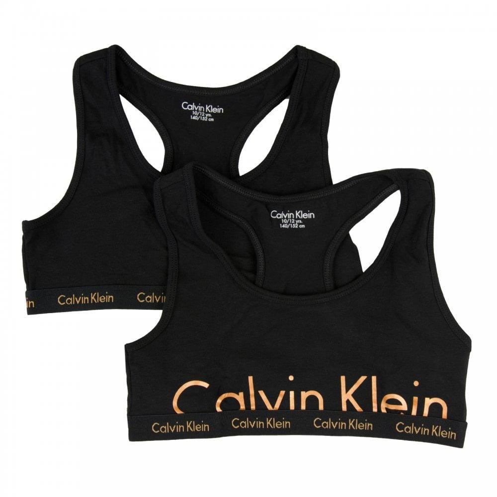 6cbf3a18992af Calvin Klein Juniors Girls 2-Pack Bra Tops (Black) - Kids from Loofes UK