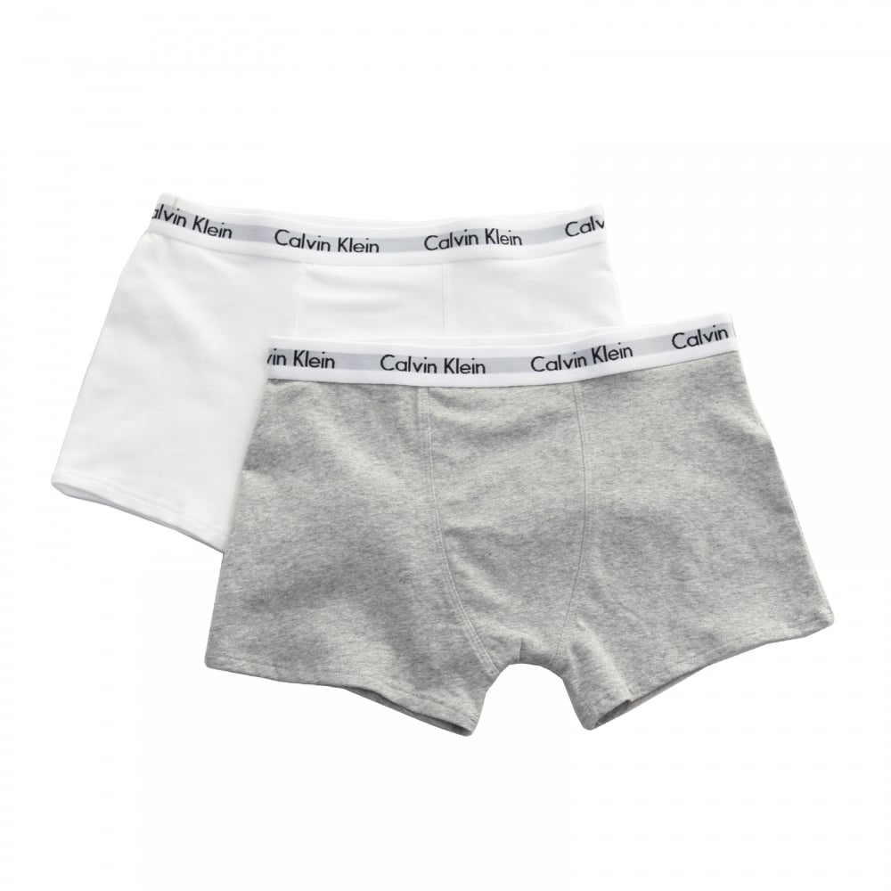 the sale of shoes superior quality select for authentic Juniors Modern 2 Pack Boxers (White/Grey)