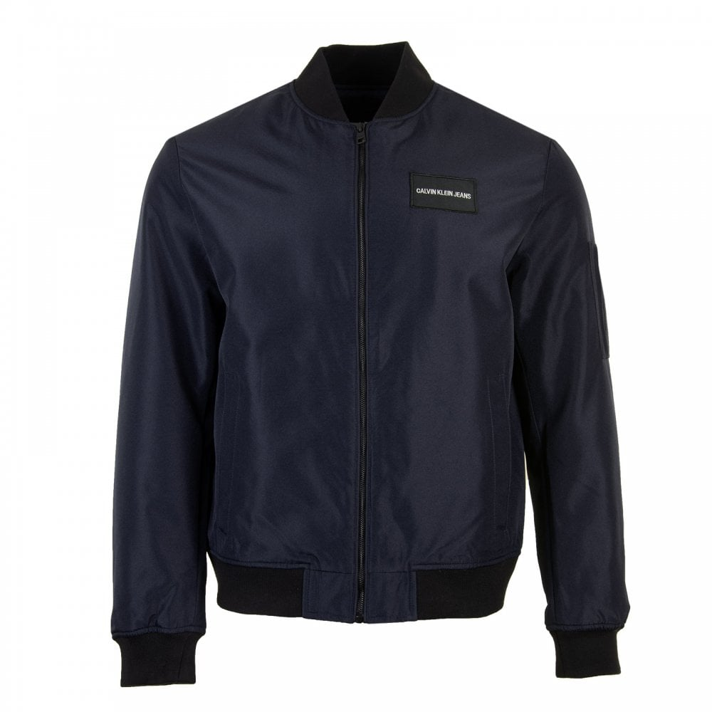 Calvin Klein Mens Bomber Jacket Navy Mens From Loofes Uk
