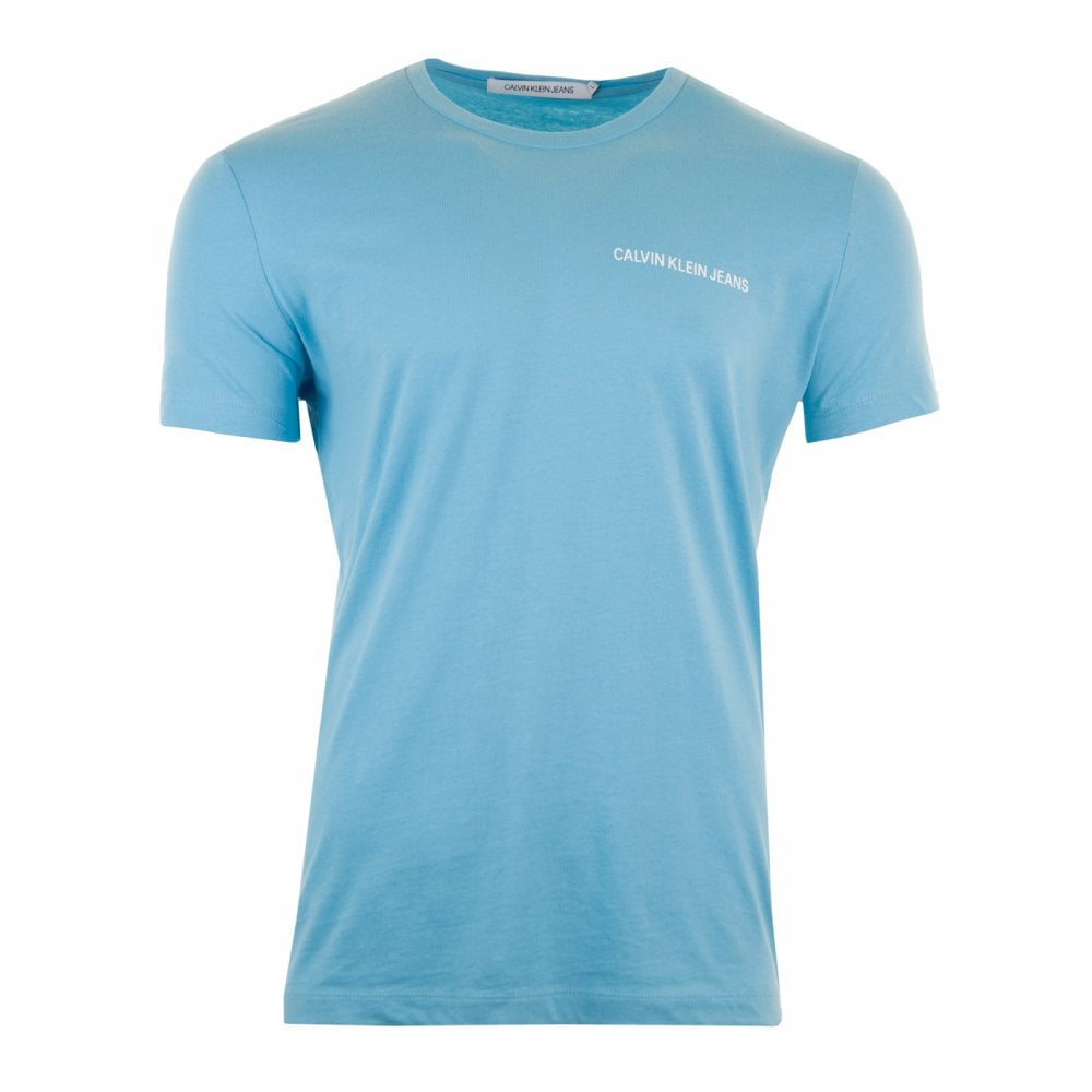 1b609ee56b30 Calvin Klein Mens Chest Institutional T-Shirt (Blue) - Mens from ...