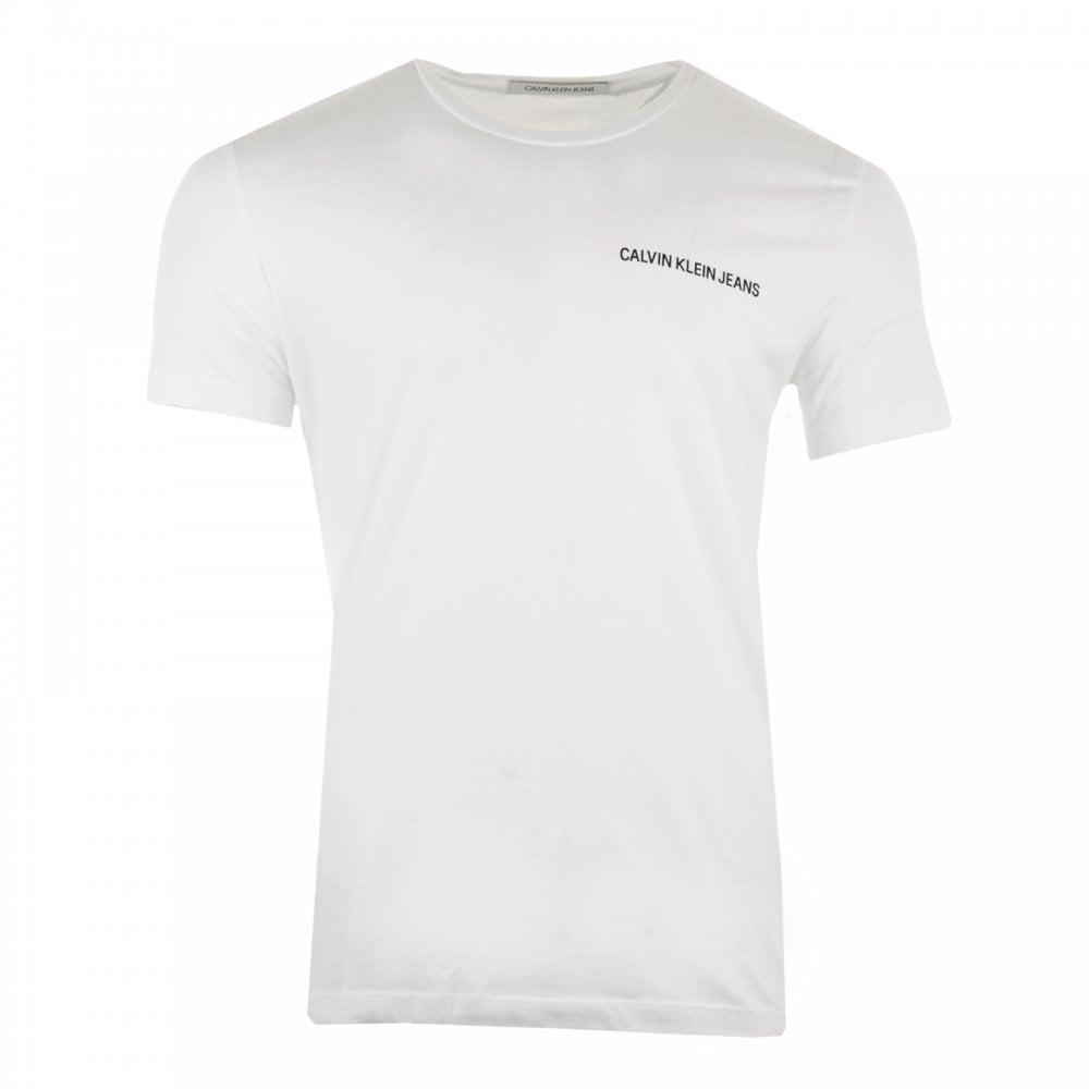 fd8265d7557b Calvin Klein Mens Chest Institutional T-Shirt (White) - Mens from ...