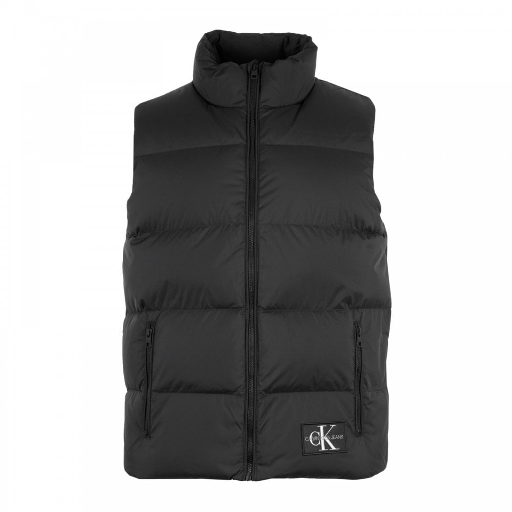 Calvin Klein Mens Down Quilted Vest Black Mens From