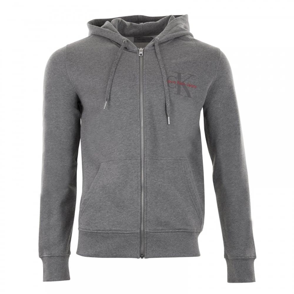 8ff5185c53d0 Calvin Klein Mens Homer 3 Slim Full Zip Hoodie (Grey) - Mens from ...
