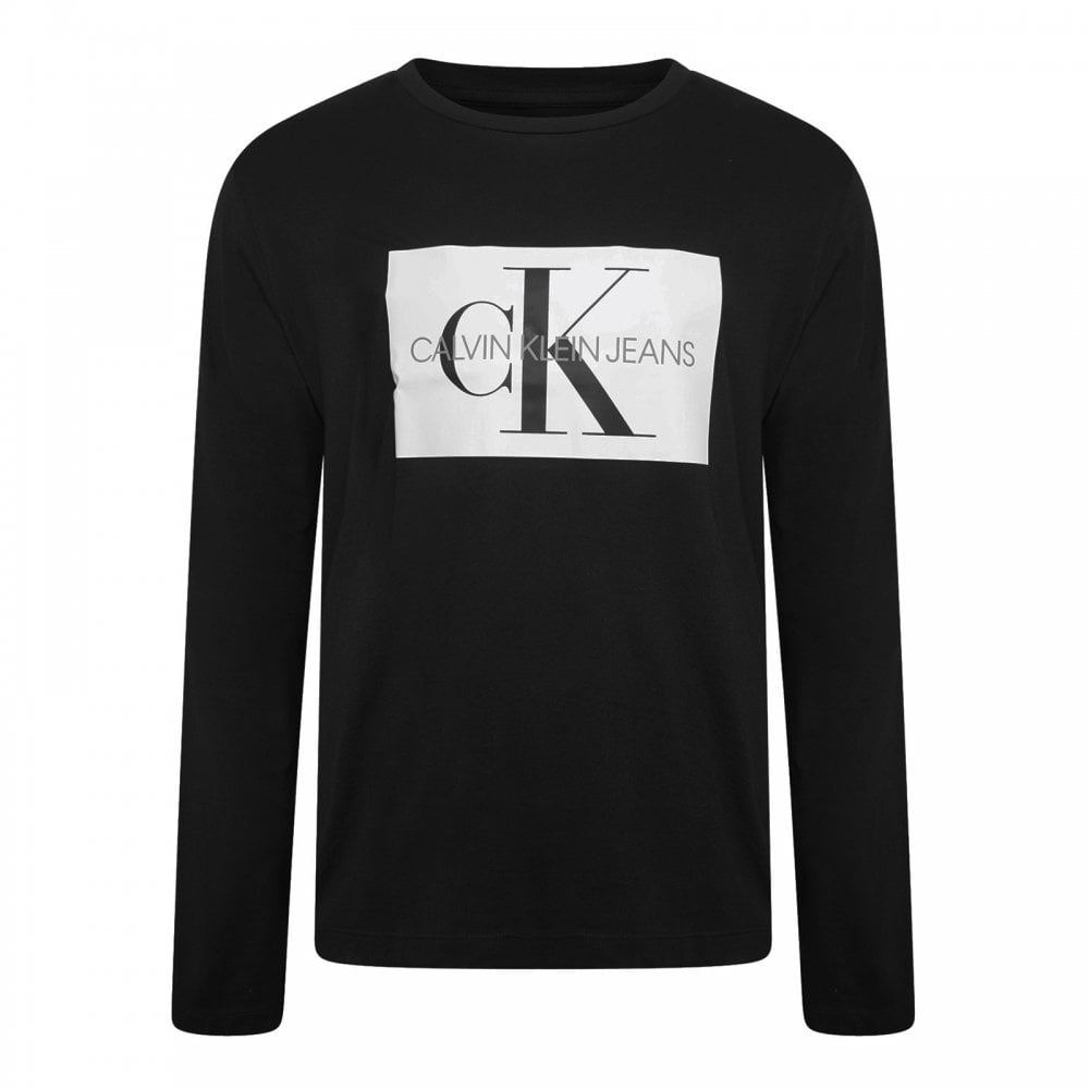 6632d1e7da042 Calvin Klein Mens Monogram Box Logo T-Shirt (Black) - Mens from ...