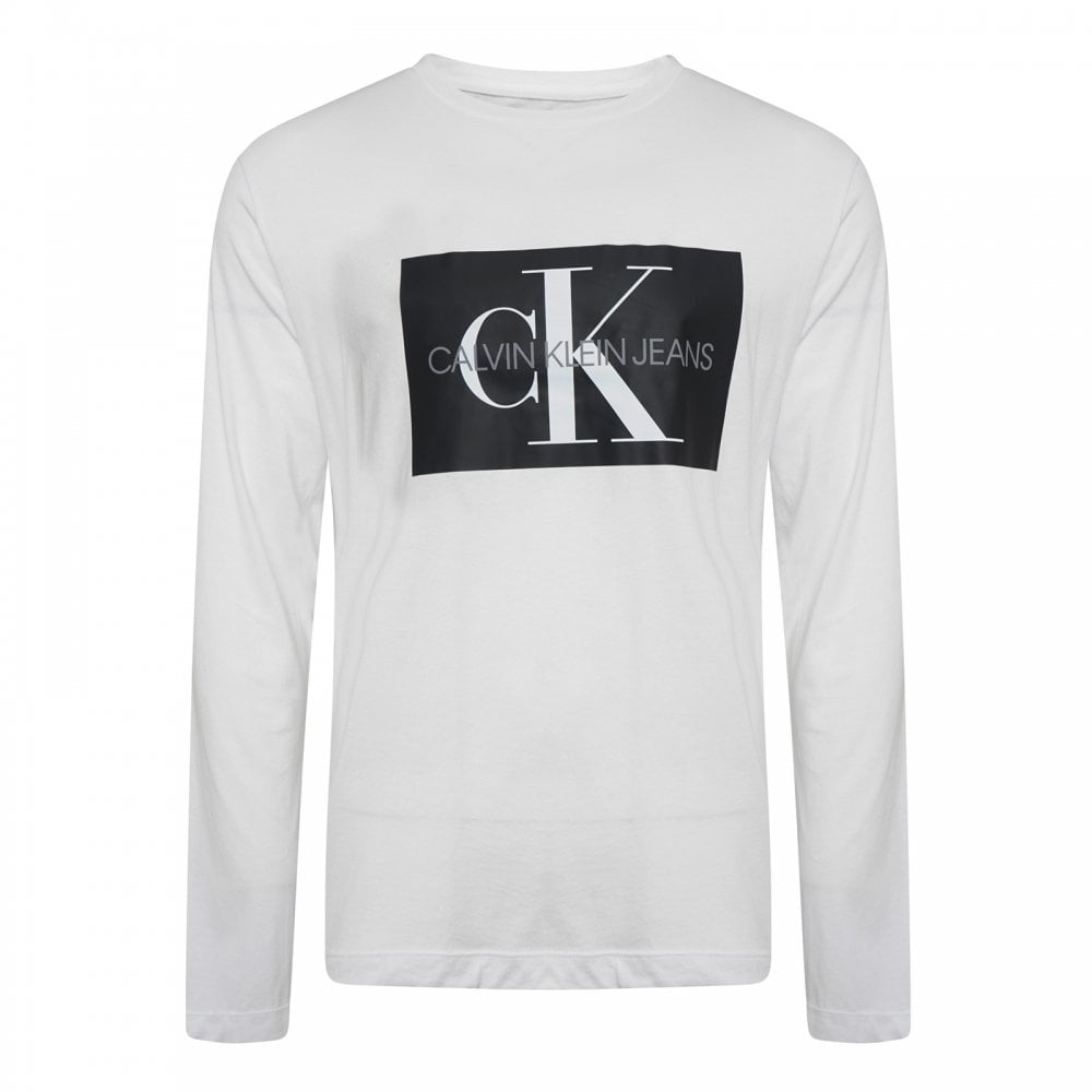 560e21600ab43 Calvin Klein Mens Monogram Box Logo T-Shirt (White) - Mens from ...