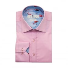 Claudio Lugli Mens Flamingo Trim Shirt (Pink)