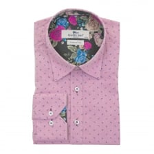 Claudio Lugli Mens Flower Trim Shirt (Pink)
