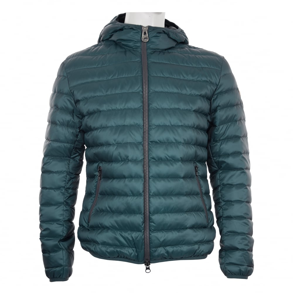 Colmar Mens Hooded Quilted Down Puffer Jacket Blue