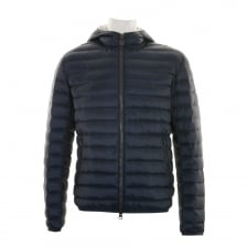 Colmar Mens Hooded Quilted Down Puffer Jacket (Navy)