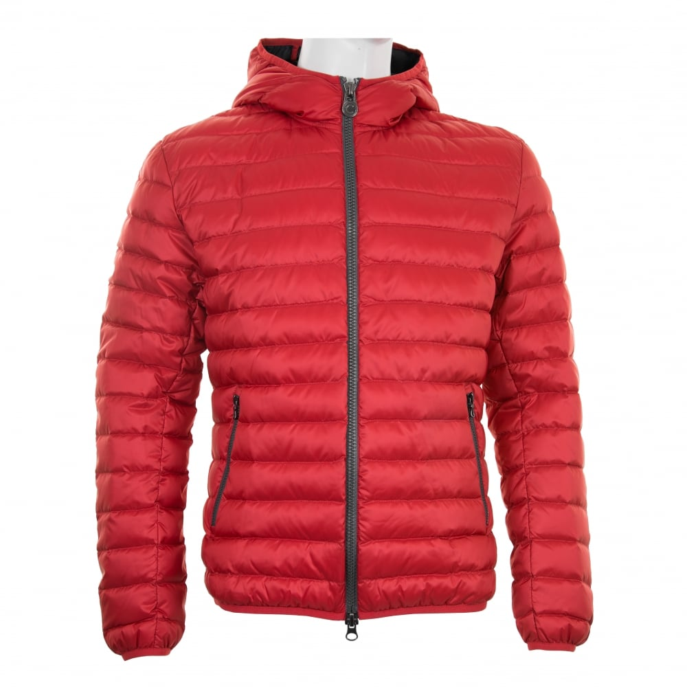Colmar Mens Hooded Quilted Down Puffer Jacket (Red) - Mens from ... : quilted down jacket mens - Adamdwight.com