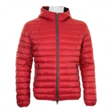 Colmar Mens Hooded Quilted Down Puffer Jacket (Red)