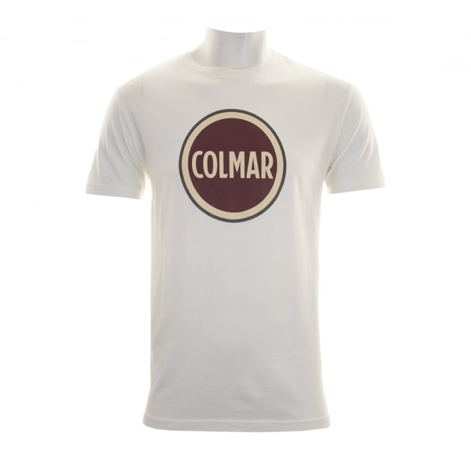 Colmar Mens Large Logo T-Shirt (Ecru)
