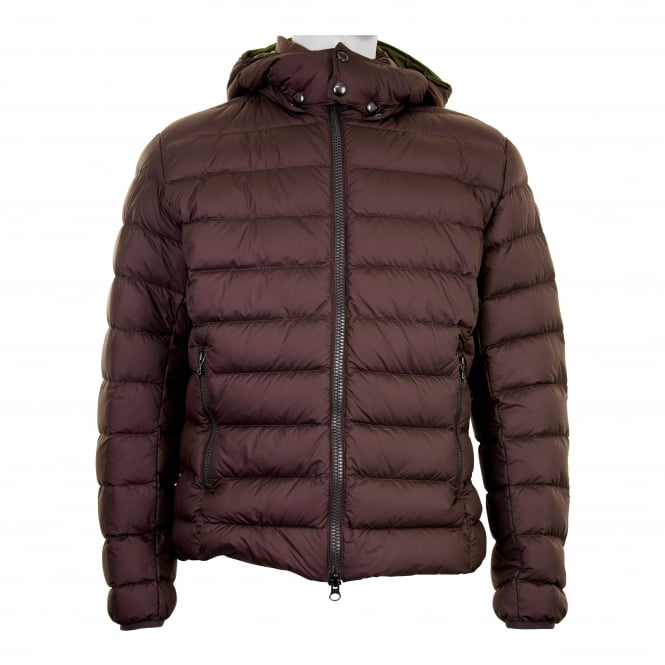 Colmar Mens Removable Hood Quilted Down Jacket Brown
