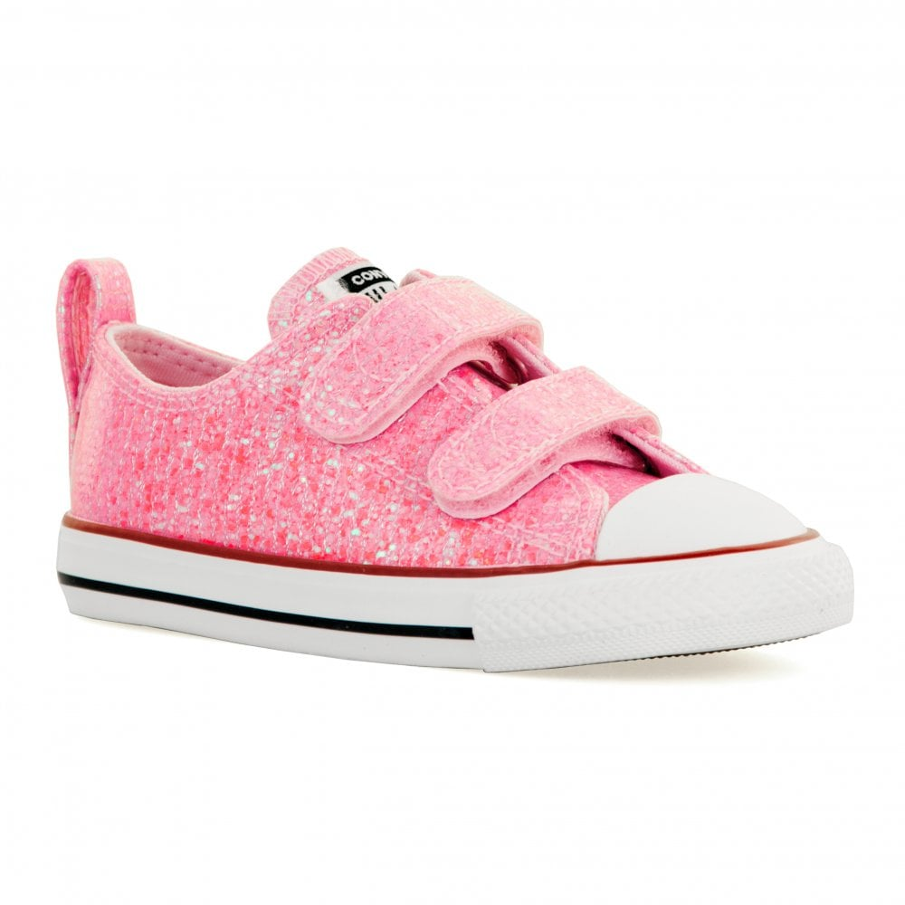 14568920f25f22 Converse Infants 2V OX Glitter Trainers (Pink) - Kids from Loofes UK