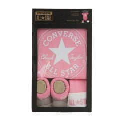 Converse Infants 3 Piece Set (Pink/White)