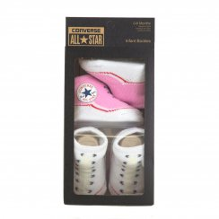 Converse Infants Baby Socks (Pink/White)