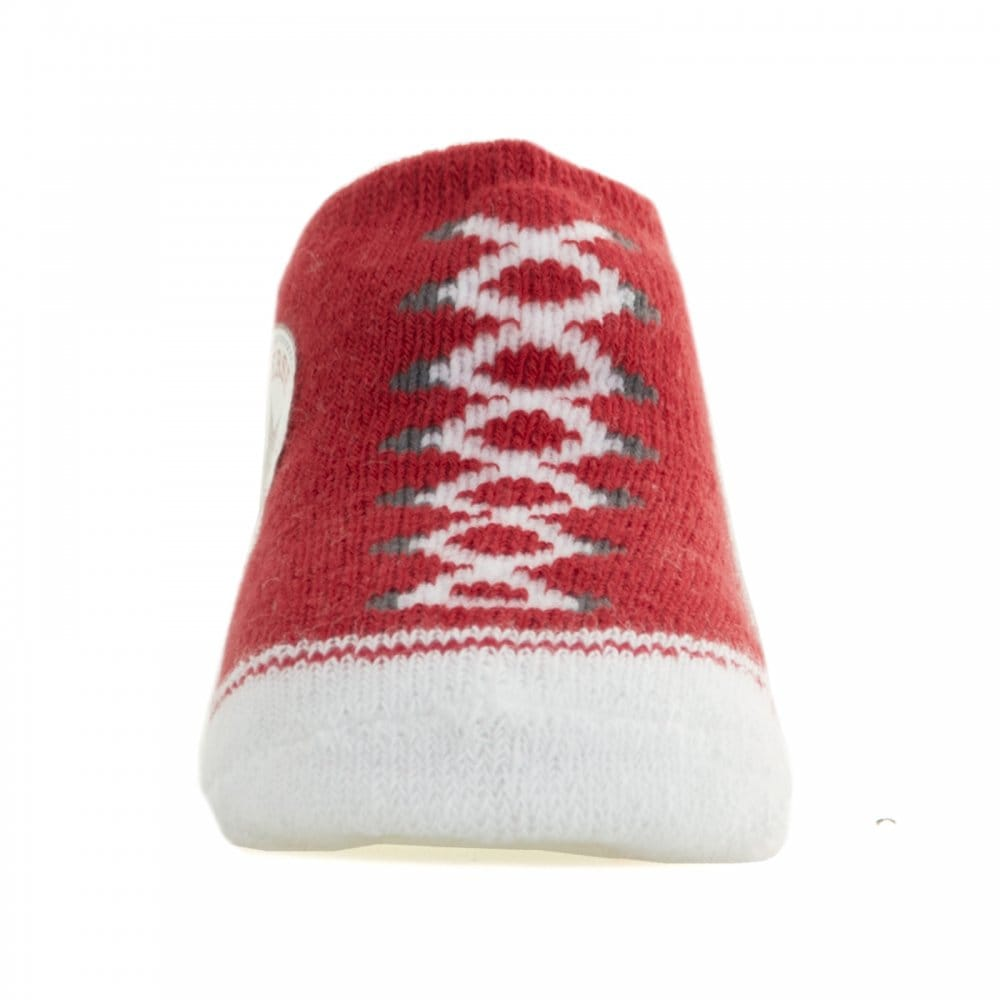 CONVERSE Converse Infants Baby Socks Red Grey CONVERSE