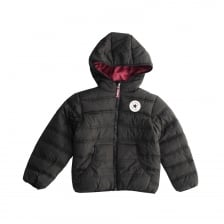 Converse Infants Boys Hooded Puffer Coat (Black)