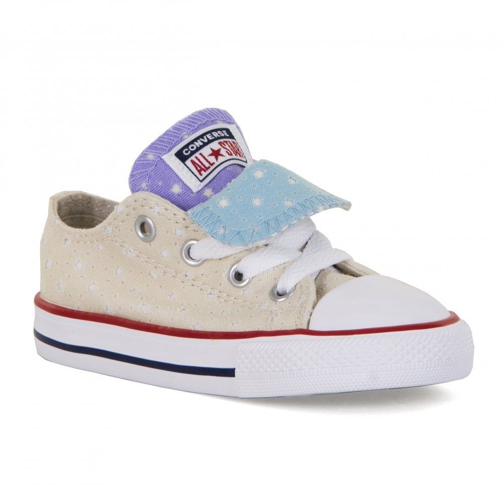a67f1d6d3 Converse Infants CT OX Double Tongue Trainers (Beige) - Kids from ...