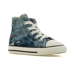Converse Infants Express Yourself Denim Trainers (Blue)