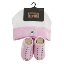 Converse Infants Hat And Sock Set (Pink/White)