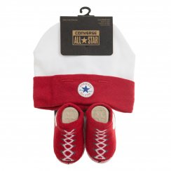 Converse Infants Hat And Sock Set (Red/White)
