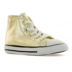 Converse Infants Metallic Hi 316 Trainers (Light Gold/White)