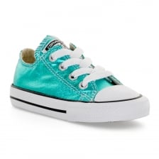 Converse Infants Metallic OX 217 Trainers (Blue)
