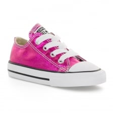 Converse Infants Metallic OX 217 Trainers (Pink)