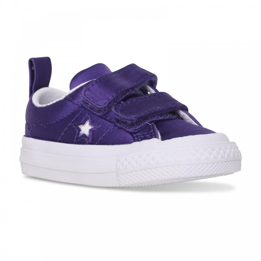 03e69a862b33 Converse Infants One Star Satin Trainers (Purple) - Kids from Loofes UK