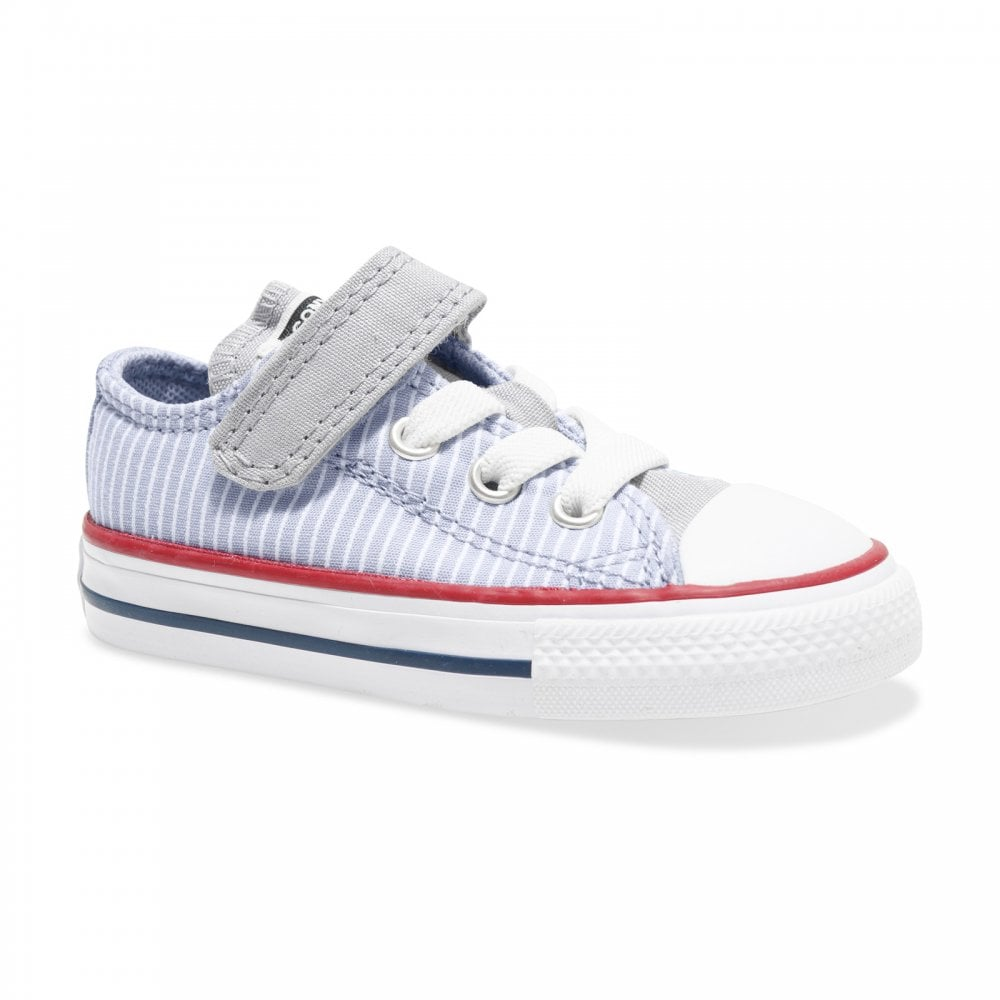 stor rea gå online fantastiskt pris Converse Infants Pinstripe CTAS OX Low Trainers (Grey) - Kids from ...