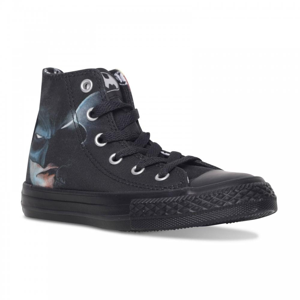 5a9f2f74ed2dac Converse Juniors Batman Hi Trainers (Black) - Kids from Loofes UK