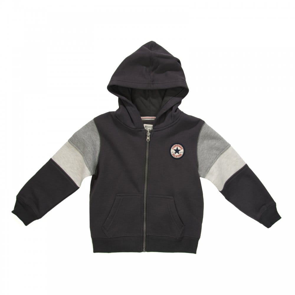 CONVERSE Converse Juniors Blocked Sleeve Hooded Top (Stormwind ... a6bf966f05fb
