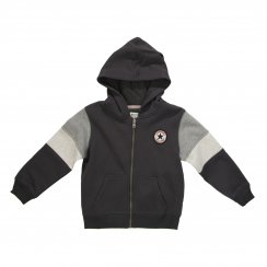 Converse Juniors Blocked Sleeve Hooded Top (Stormwind)