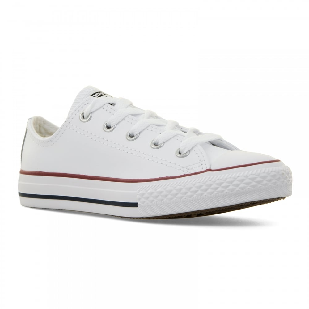 b9bc4833ce8d64 Converse Juniors Core Leather CT Ox 10-2 Trainers (White) - Kids ...
