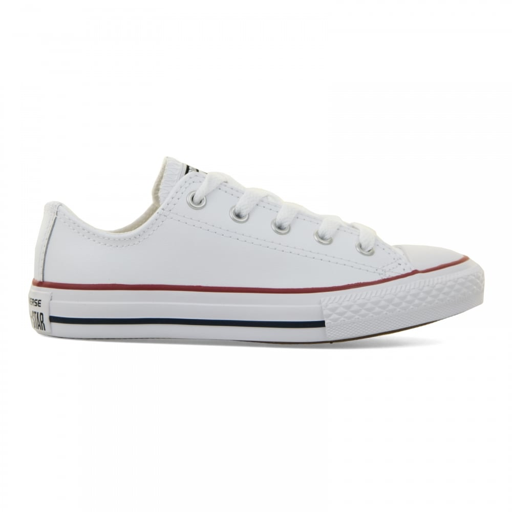 1231b8a5b5dadf Converse Juniors Core Leather CT Ox 10-2 Trainers (White) - Kids ...