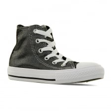 Converse Juniors CT Shimmer Hi 416 Trainers (Silver)