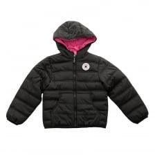 Converse Juniors Hooded 416 Coat (Black)